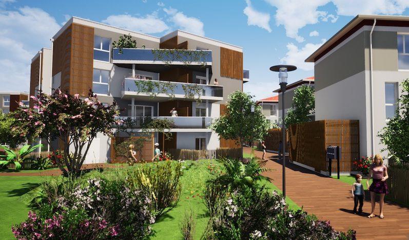 Programme-Immobilier-Neuf-Villenave d'Ornon-Les Jardins de - Immocub
